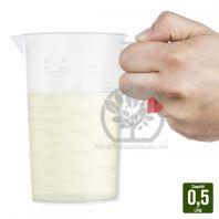 Broc avec graduation % pour mélange. 0,5 L