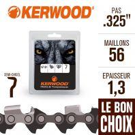 "Chaîne tronçonneuse Kerwood 56 maillons 325"" , 1,3 mm. Semi-Chisel"
